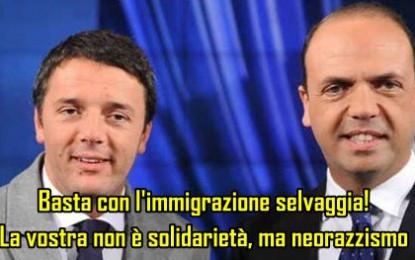 Alfano va cacciato insieme a Renzi. Basta immigrazionismo!