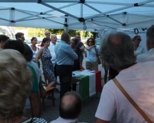 Imolaoggi, gazebo davanti caserma Montello per dire No a ministro Alfano