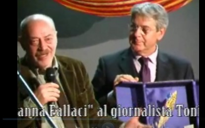Armando Manocchia consegna il Premio Oriana Fallaci